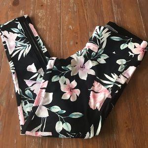 NEW VS PINK mesh floral leggings